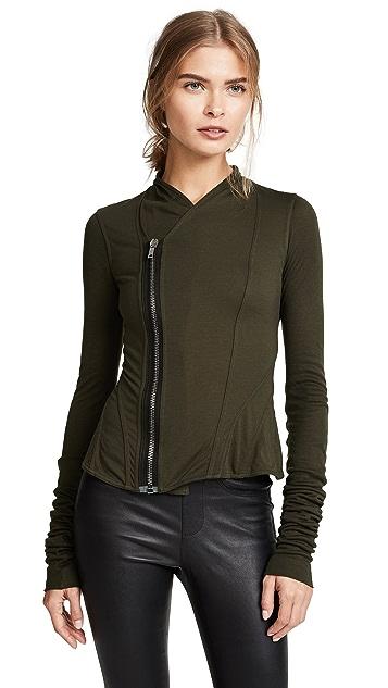 Rick Owens Lilies Long Sleeve Zip Jacket