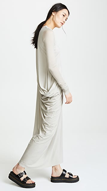 Rick Owens Lilies Long Sleeve Cinched Dress