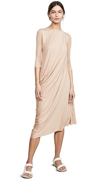 Rick Owens Lilies 3/4 Sleeve Drape Dress