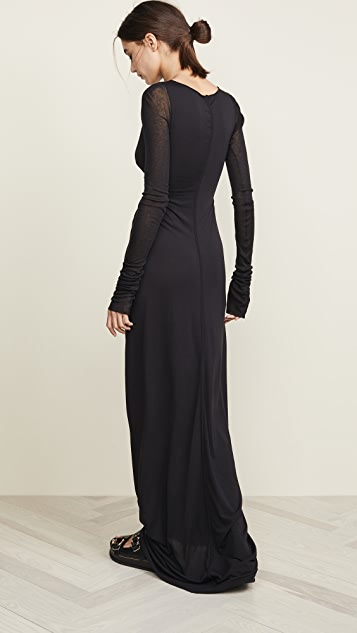 Rick Owens Lilies Gathered Front Dress