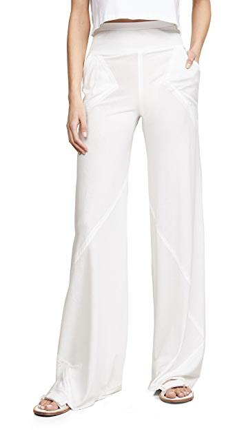 Rick Owens Lilies High Waisted Wide Leg Pants