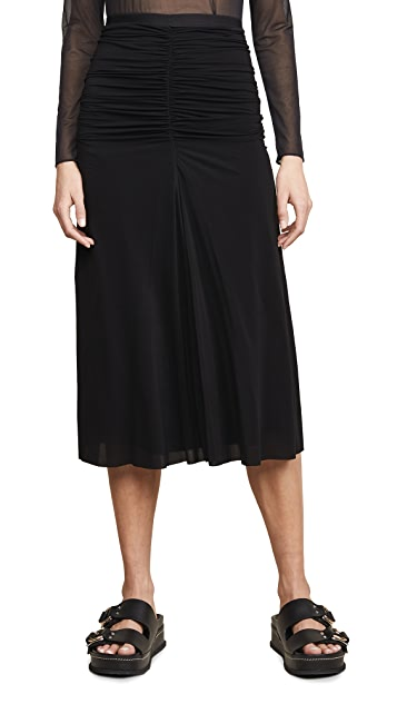Rick Owens Lilies Gathered Front Skirt