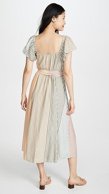Rachel Pally Платье Sibil в клетку с эффектом «омбре»