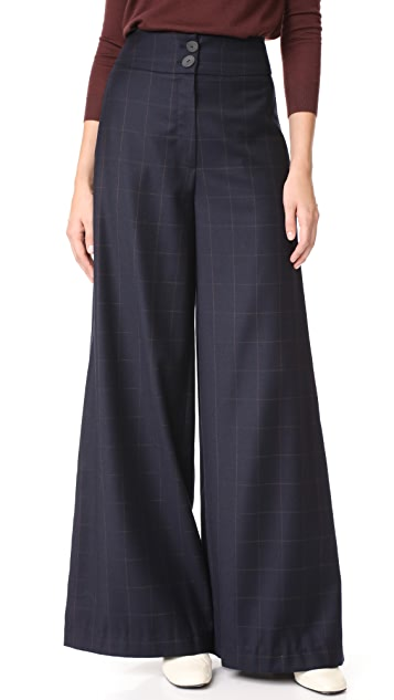 Rejina Pyo Beatrice Check Trousers