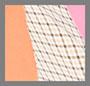 绉绸粉色/珊瑚混合/格纹