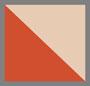 平纹针织红色/米黄色混合