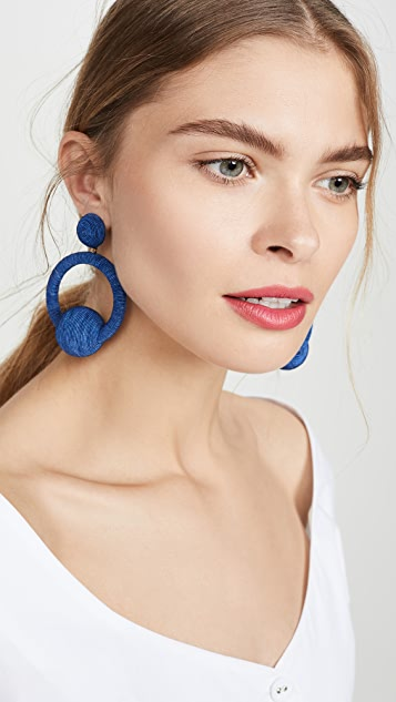 Rebecca De Ravenel Hoop La La Earrings