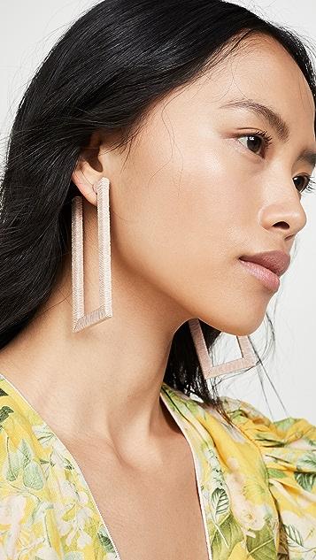 Rebecca De Ravenel 几何圈式耳环