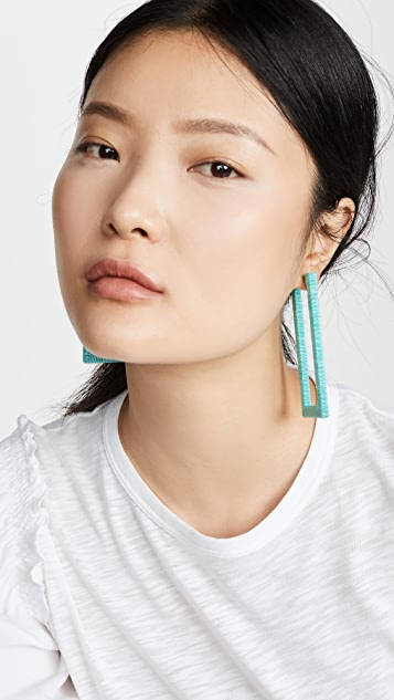 Rebecca De Ravenel Geo Hoop Earrings