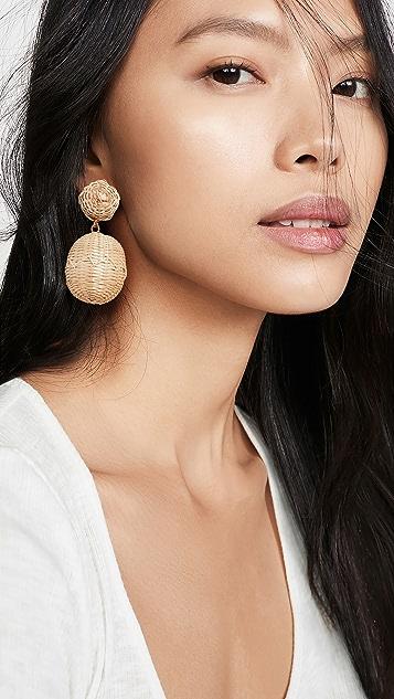 Rebecca De Ravenel 2 Drop Rattan BonBon Earrings