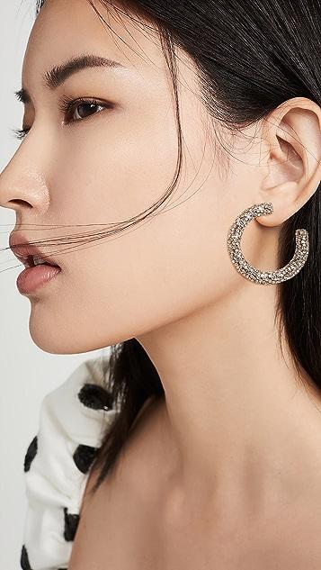 Rebecca De Ravenel 水晶迷你圈式耳环