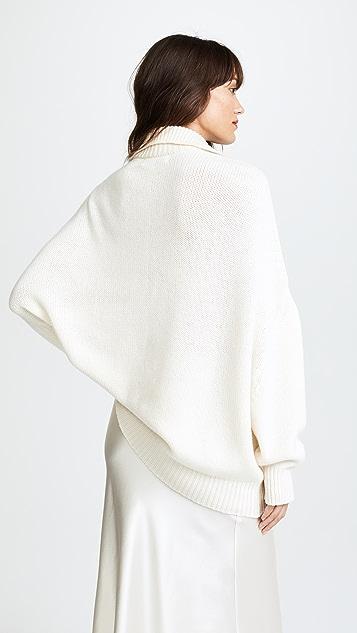 Ryan Roche Chunky Double Neck Sweater