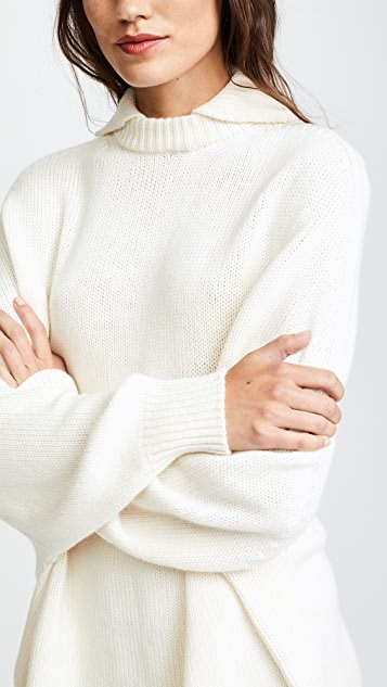 Ryan Roche Chunky Double Neck Sweater
