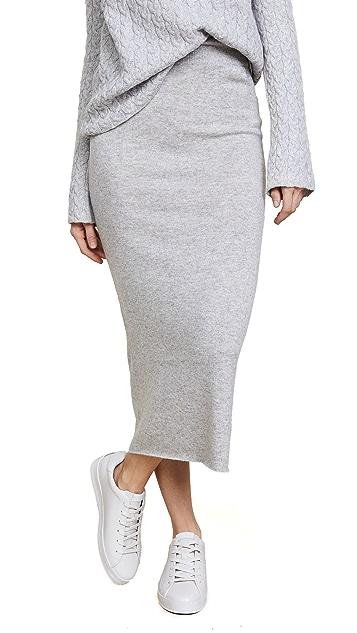 Ryan Roche Cashmere Long Skirt