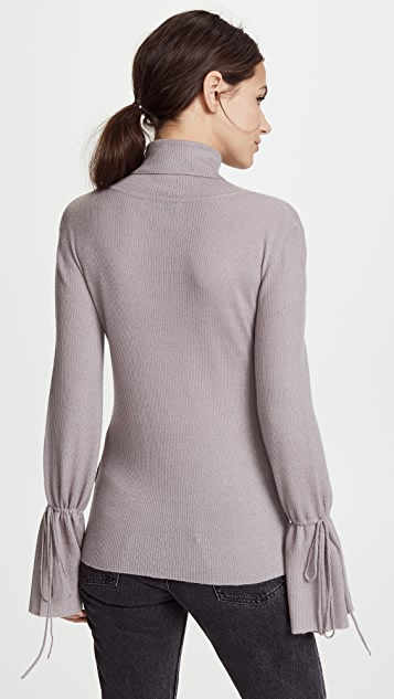 Ryan Roche Cuff String Cashmere Sweater