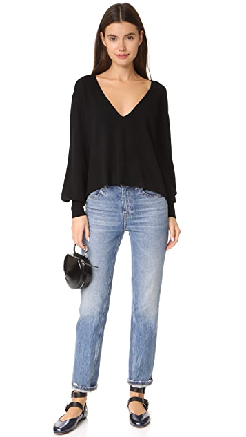 Ryan Roche V Neck Cashmere Sweater