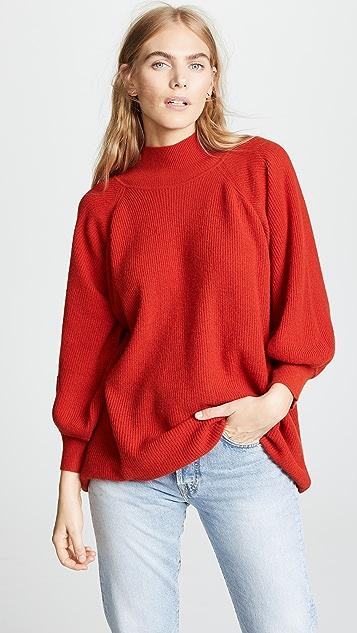 Ryan Roche Balloon Sleeve Turtleneck Sweater  8916f9360