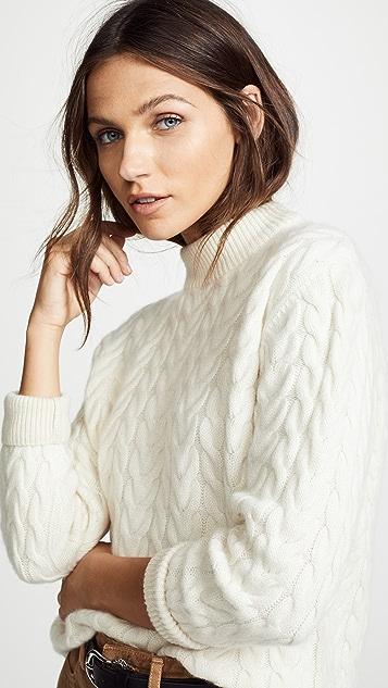 Ryan Roche Cashmere Cable Sweater