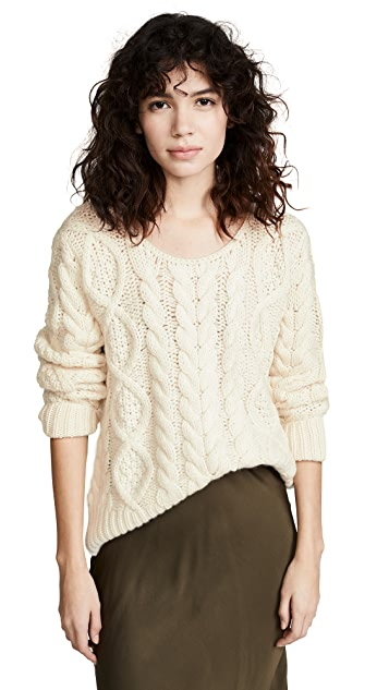 Ryan Roche Cable Knit Sweater