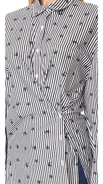 Robert Rodriguez Striped Shirt with Embroidery
