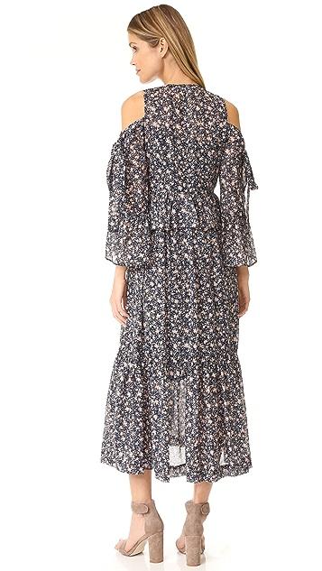 Robert Rodriguez Printed Ruffle Dress