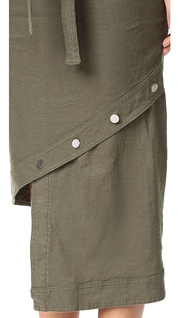 Robert Rodriguez Slanted Hem Skirt