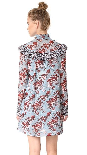Robert Rodriguez Long Sleeve Ruffle Dress