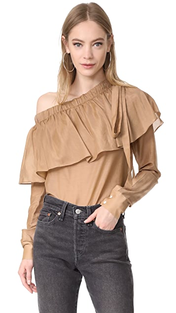 Robert Rodriguez One Shoulder Top