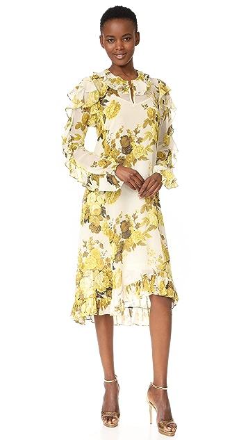 Robert Rodriguez Платье с оборками и асимметричным подолом