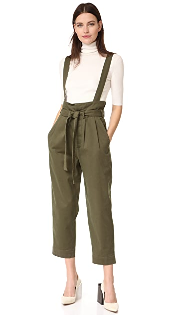 Robert Rodriguez High Waisted Trousers with Waist Flap