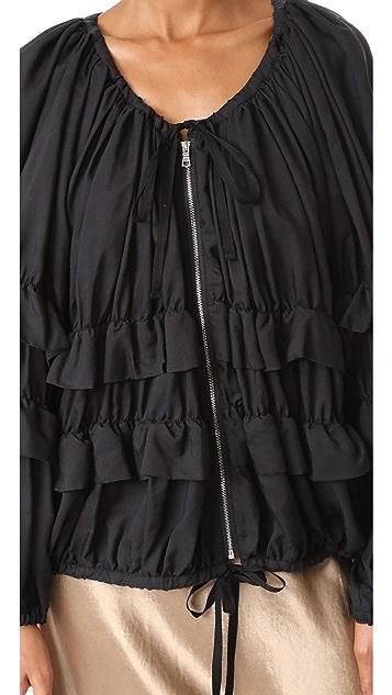 Robert Rodriguez Oversized Ruffle Jacket