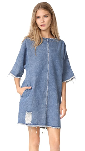 Robert Rodriguez Drop Shoulder Denim Dress