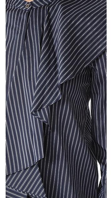 Robert Rodriguez Front Collar Ruffle Shirt