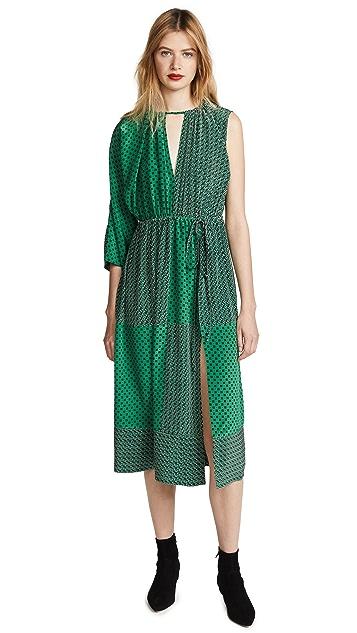 Robert Rodriguez Mixed Print Maxi Dress