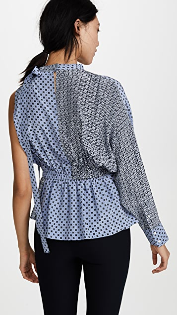 Robert Rodriguez Mixed Print Blouse