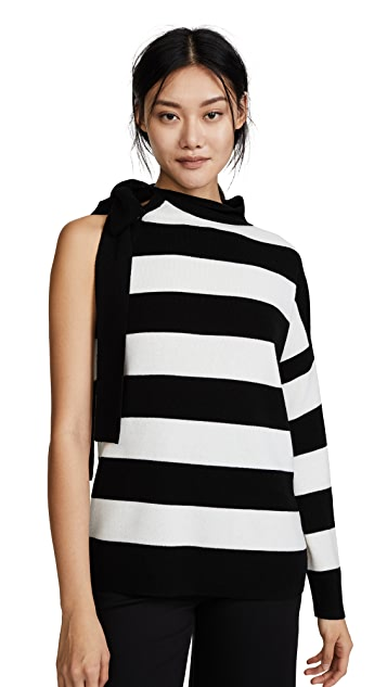 Robert Rodriguez Striped One Shoulder Pullover