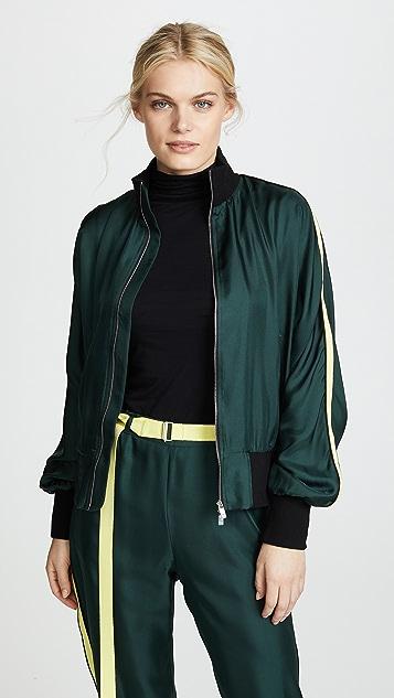 Robert Rodriguez Silk Track Jacket - Green