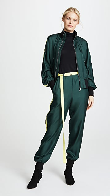 Robert Rodriguez Silk Track Pants