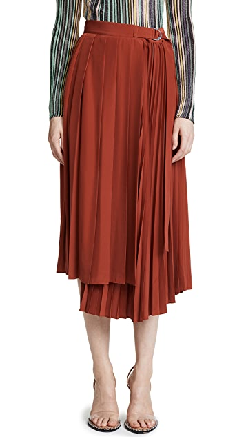 Robert Rodriguez Pleated Wrap Skirt