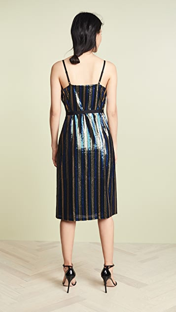 Robert Rodriguez Sequin Wrap Dress