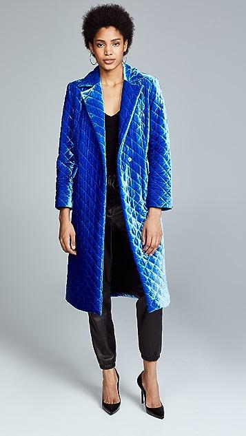 Robert Rodriguez Стеганое выцветшее бархатное пальто
