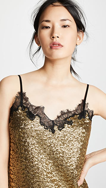 Robert Rodriguez Sequins Lace Dress