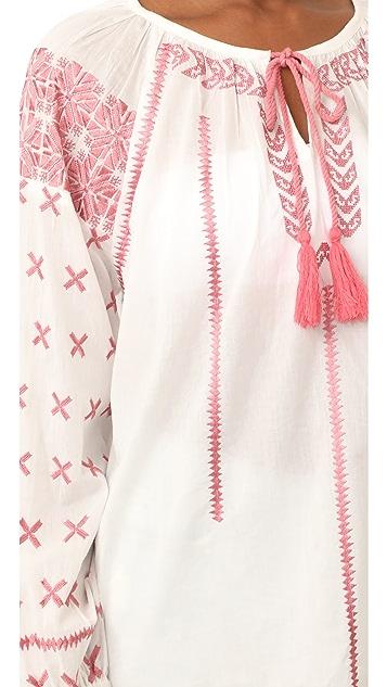 Roller Rabbit Jacinda Embroidered Top