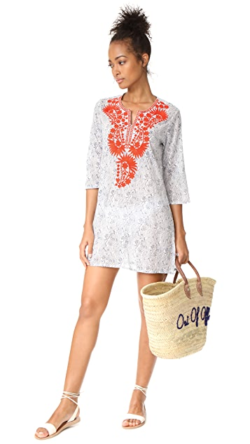 Roller Rabbit Sitara Lata Embroidered Caftan