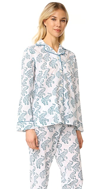 Roller Rabbit Elephants Hathiphool PJ Set