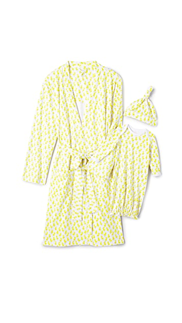 Roller Rabbit Maternity Robe & Onesie Set