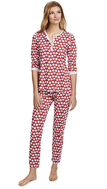Roller Rabbit Loungewear Sno Global PJ Set