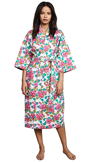 Roller Rabbit Geraniums Long Kimono