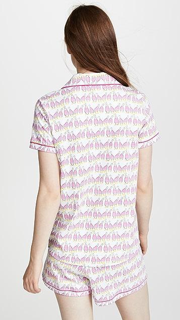 Roller Rabbit Sissou Polo Pajama Set