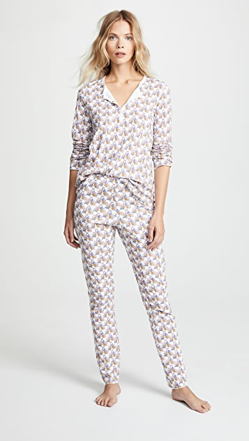 Roller Rabbit Gobble PJ Set